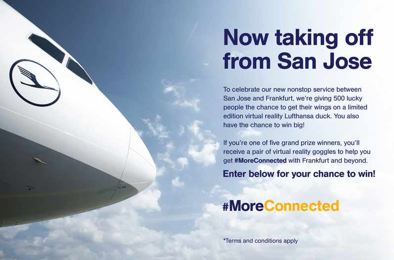 "Lufthansa's ""#MoreConnected Social Media"" Sweepstakes"