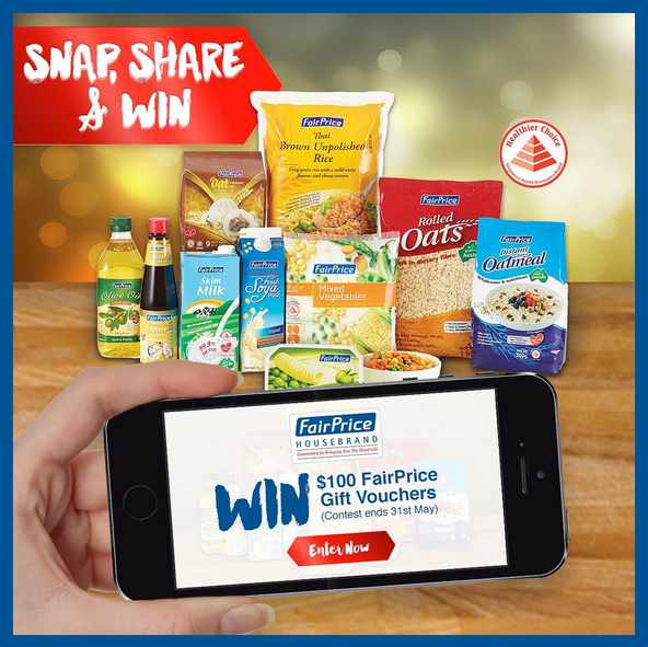 #WIN $100 FairPrice vouchers from now till 31st May