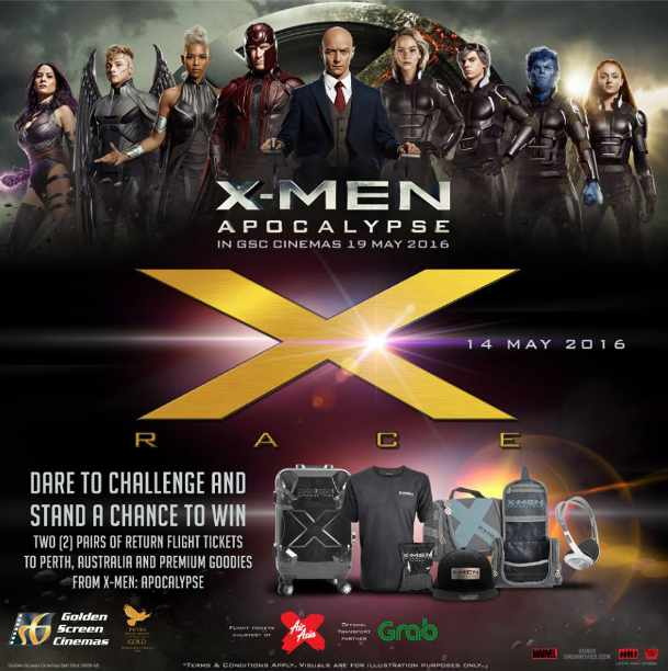 Win a return flight ticket to Perth and awesome X-Men Movies goodies at Golden Screen Cinemas