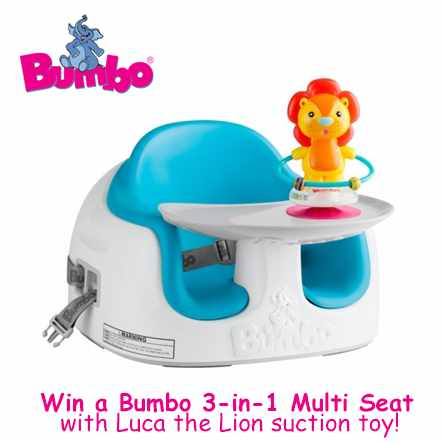 Win home the Ultimate 3 stages Bumbo Multi-Seat with Luca the Lion toy at mothercare Singapore