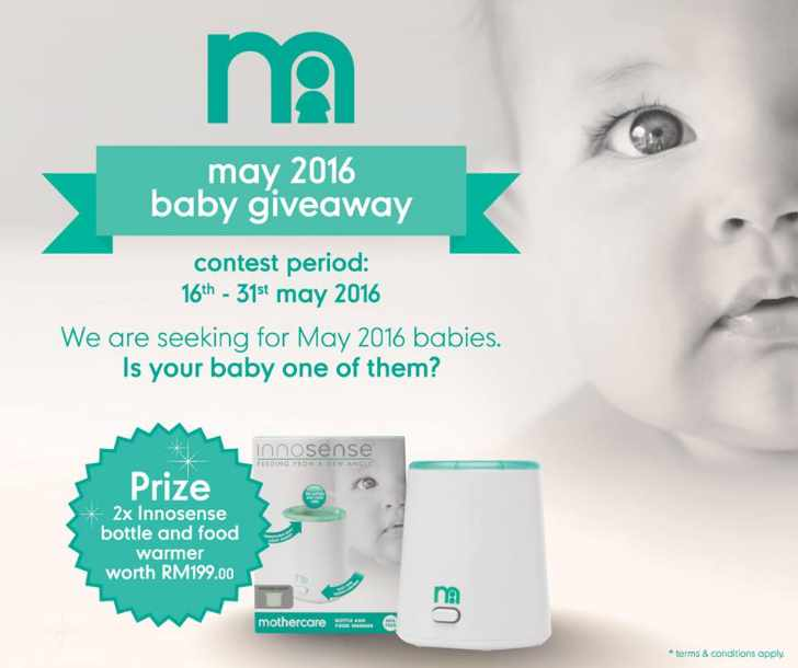 #Win the Innosense bottle and food warmer worth RM199 at Mothercare Malaysia