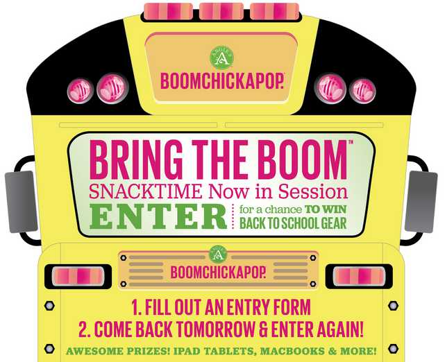 BRING THE BOOM™ SNACKTIME NOW IN SESSION SWEEPSTAKES