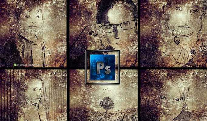 #Free #Udemy Course on Photoshop-Photo to Ancient Grungy Art in Photoshop