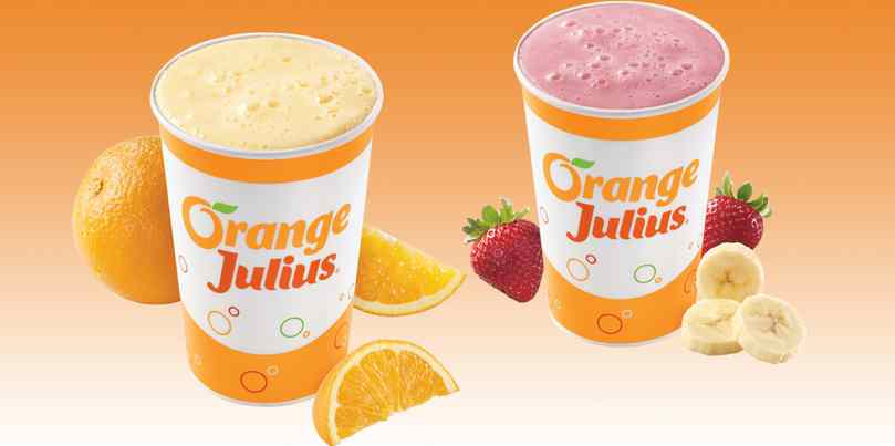Free drink coupon for your birthday at Orange Julius