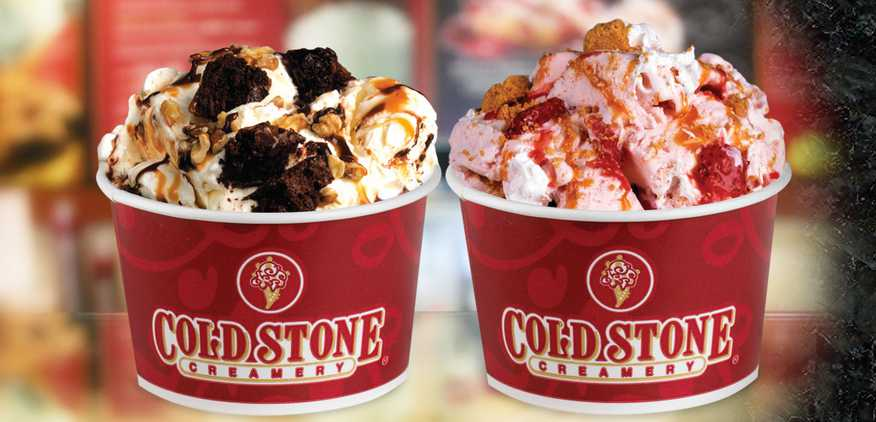 Free ice cream on your birthday at Cold Stone Creamery