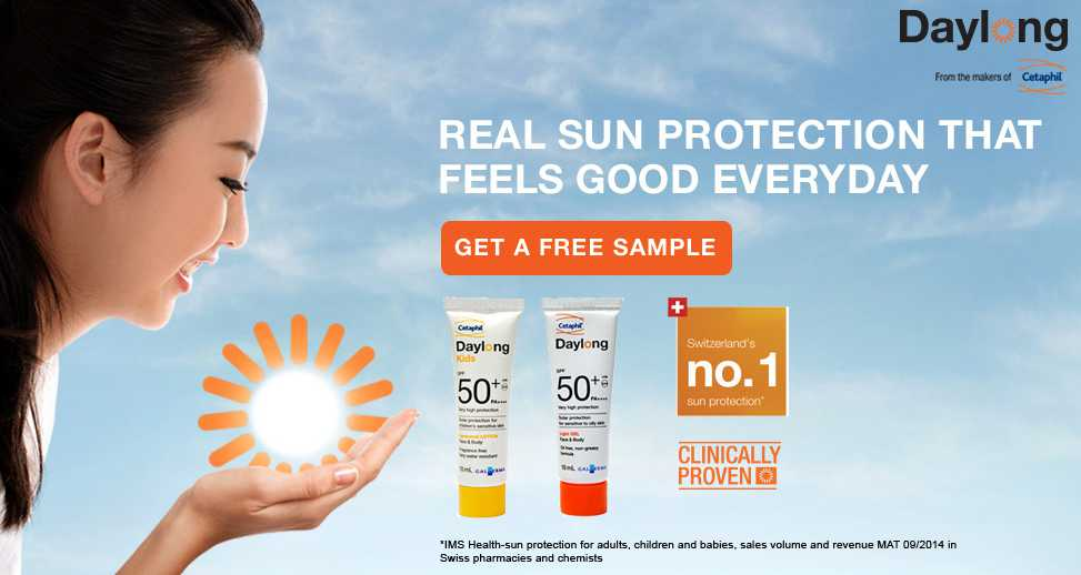 Get a free sample of Daylong Sun Protection
