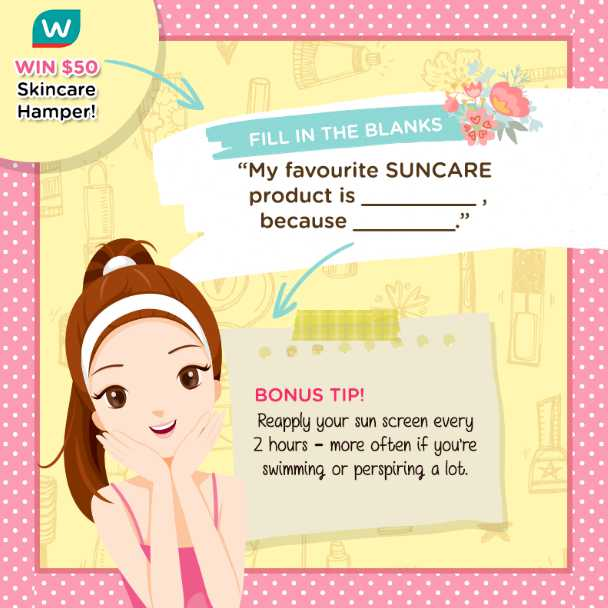#Win a $50 Skincare hamper at Watsons Singapore