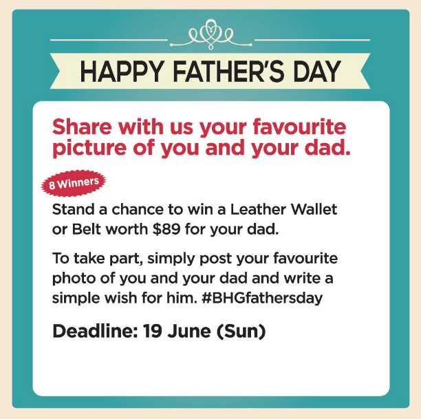 Win a Valentino Rudy Leather Wallet or Belt for your Dad at BHG Singapore