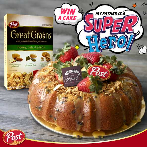 Win home a customized Honey Oats & Seed Lemon Yogurt cake from Where's The Food at POST Cereals Singapore