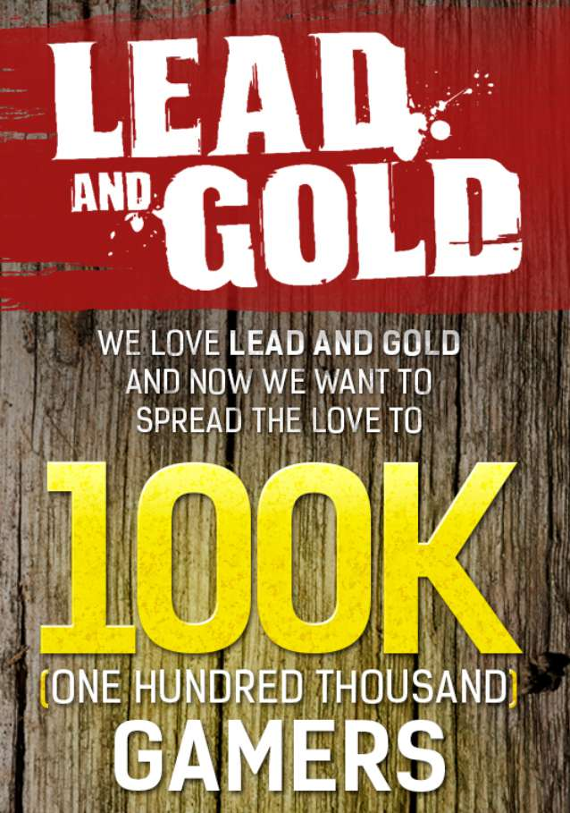 100 000 copies of Lead & Gold for free!