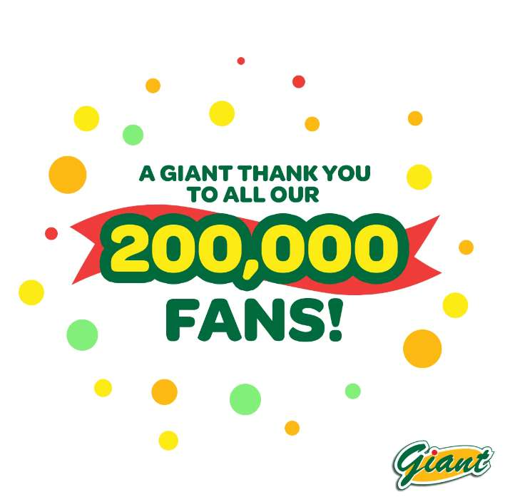 Happy 200,000 Giant Chance to #win RM50 voucher