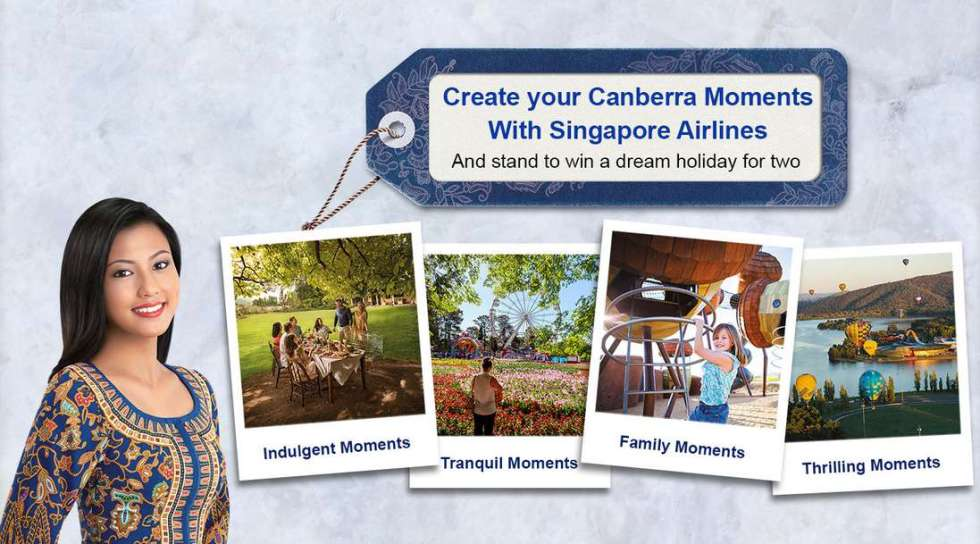 #WIN a dream holiday for two to Canberra at Singapore Airlines