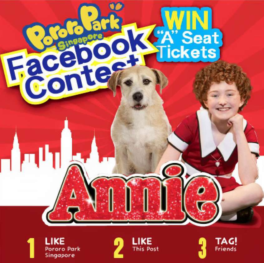 "#Win a pair of tickets to Annie The Musical, ""A Reserve tickets"" at Pororo Park Singapore"