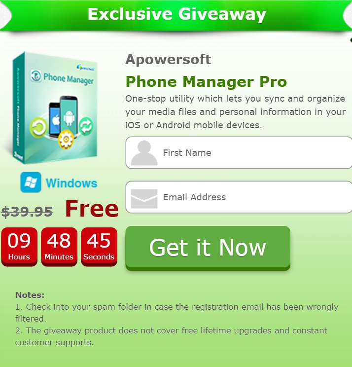 #FREE Apowersoft Phone Manager Pro