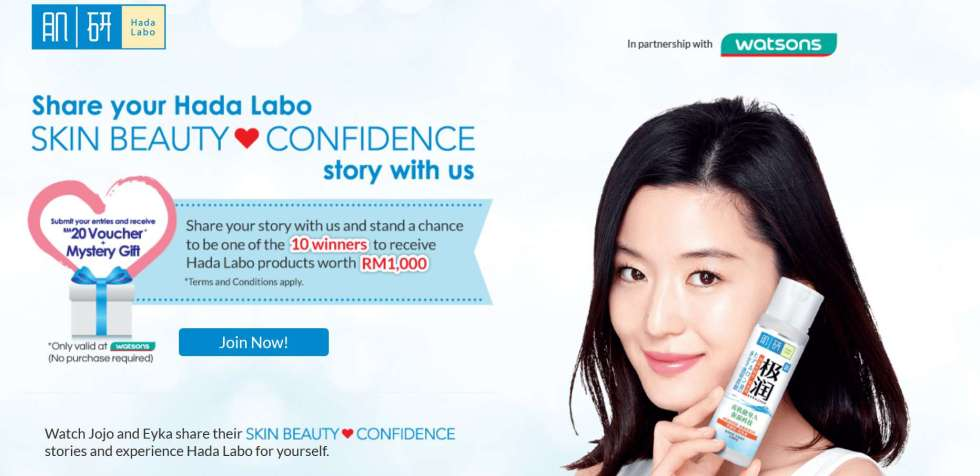 Share your Hada Labo Skin Beauty Confidence Story with us