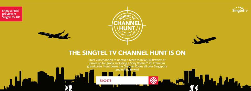 THE SINGTEL TV CHANNEL HUNT IS ON