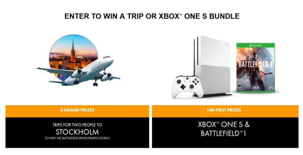 ENTER TO WIN A TRIP OR XBOX™ ONE S BUNDLE AT MONSTER ENERGY