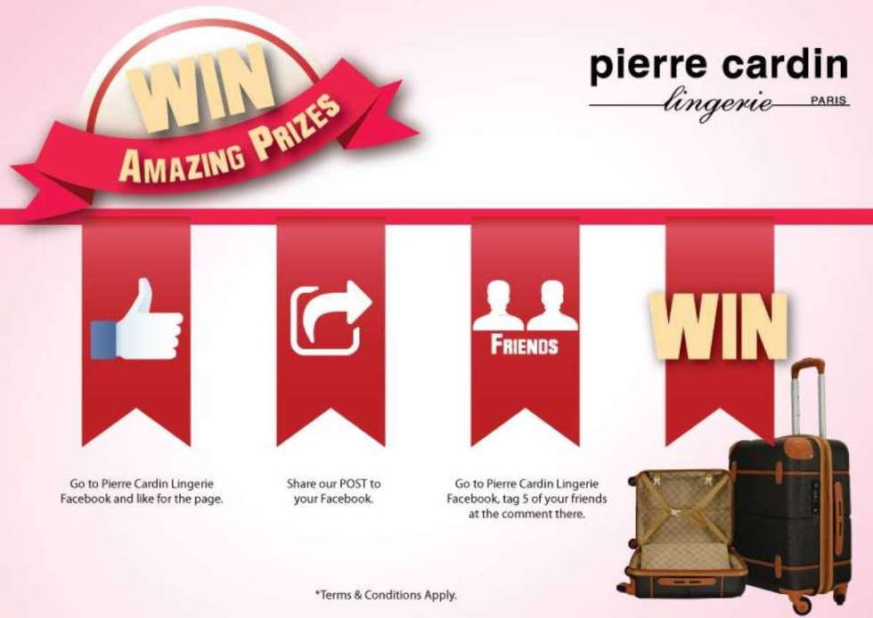 HANDCARRY LUGGAGE GIVE AWAY FOR #FREE AT PIERRE CARDIN LINGERIE MALAYSIA