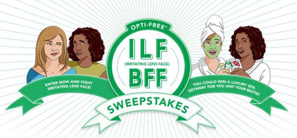 OPTI-FREE® Irritating Lens Face Sweepstakes