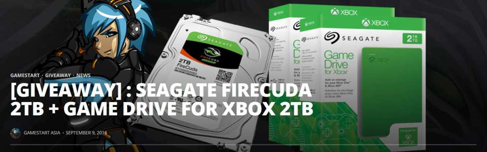 Seagate Firecuda 2TB + Game Drive for Xbox 2TB Giveaway
