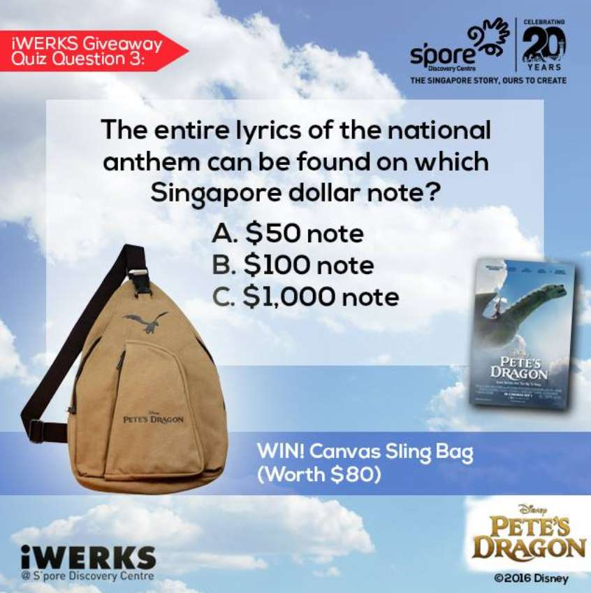 #WIN Pete's Dragon Canvas Sling Bag at S'pore Discovery Centre