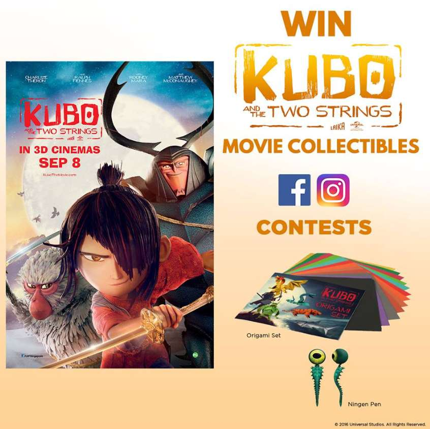 #Win Kubo and The Two Strings movie collectibles at Cineplexes