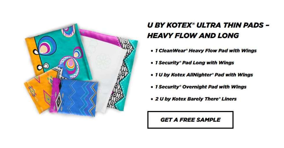 Free U By Kotex Ultra Thin Pads Heavy Flow And Long Usa