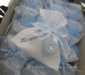 Sacchettini bomboniere portaconfetti con cuore per Daniele