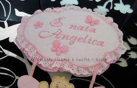 """Fiocco nascita aeroplano rosa """"E' nata Angelica"""""""