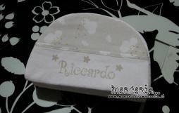 Beauty e bustina fantasia con nuvole e coppia asciugamani per Riccardo