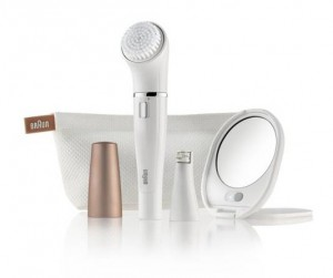 Image of Braun Facuial Cleansing Brush & Epilator with accessories.