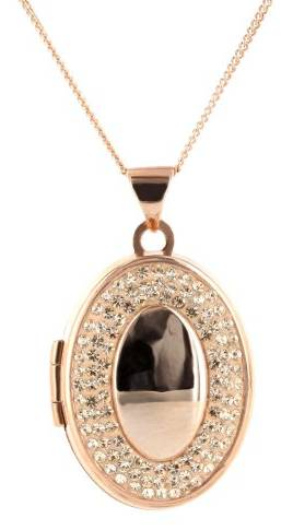 Close-up of Chapele Rose Gold Locket Pendant.
