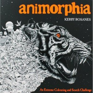 Image showing front cover of Animorphia Adult Colouring Book