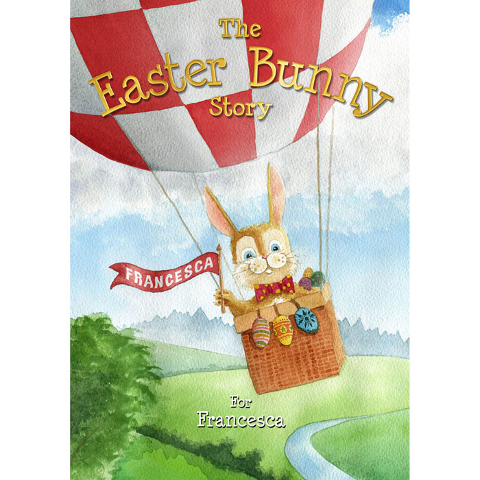 Image showing front cover of personalised 'The Easter Bunny Story' book