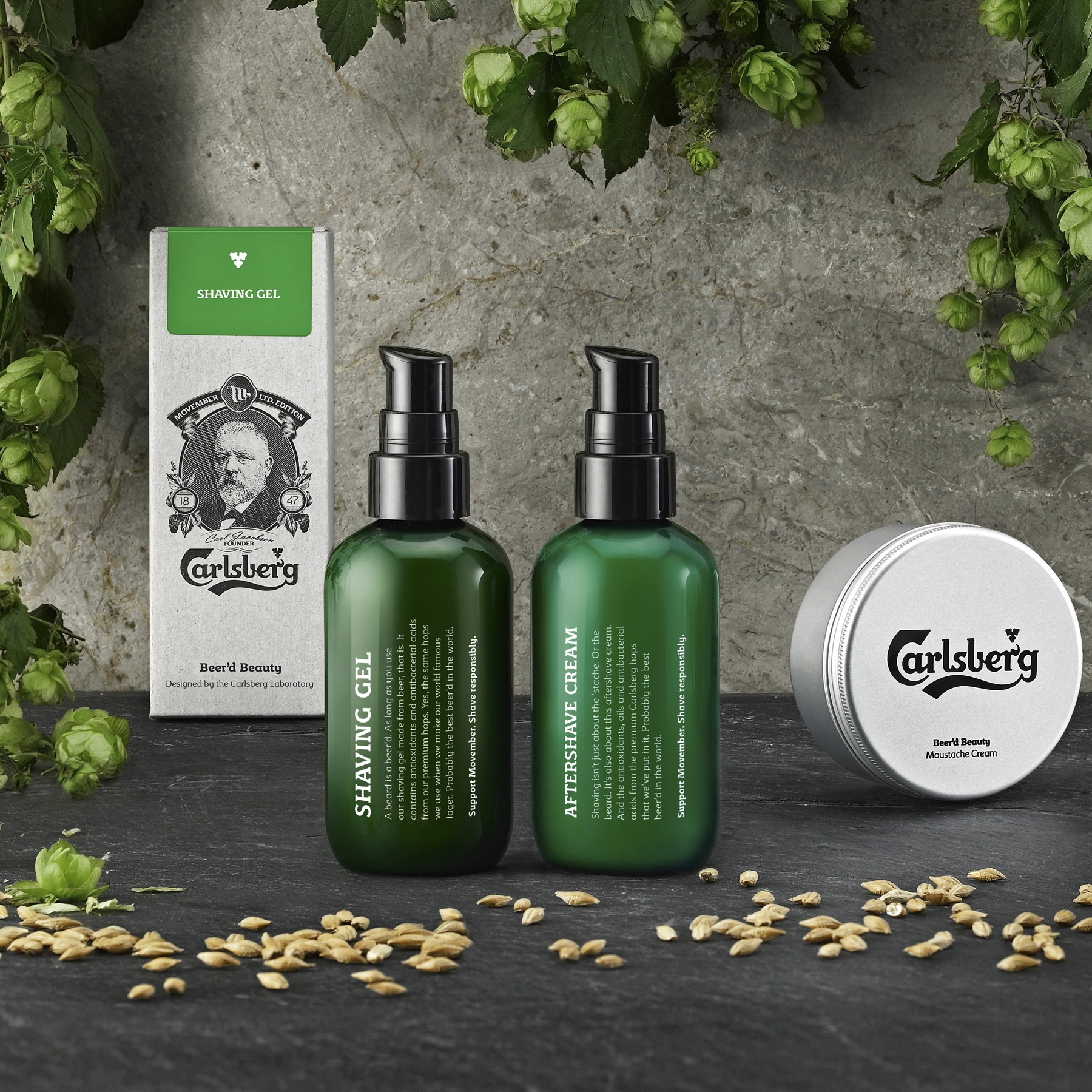 Carlsberg Beer'd Beauty Grooming Products