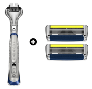 Dorco 6-Blade Razor - Pace 6 Plus Handle and Blades
