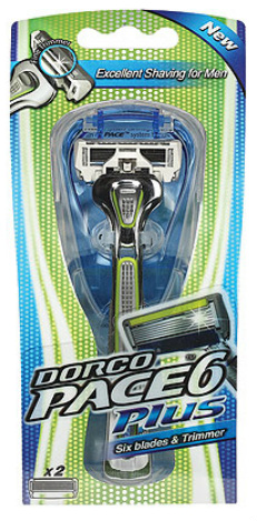 Dorco 6-Blade Razor - Pace 6 Plus in Packaging
