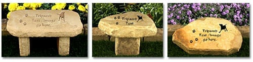 Tripawds Gifts Garden Stone Pet Memorial Headstones Benches