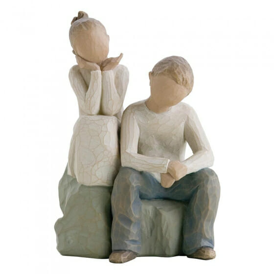 """WILLOW TREE BROTHER AND SISTER 26187- 5.5"""""""