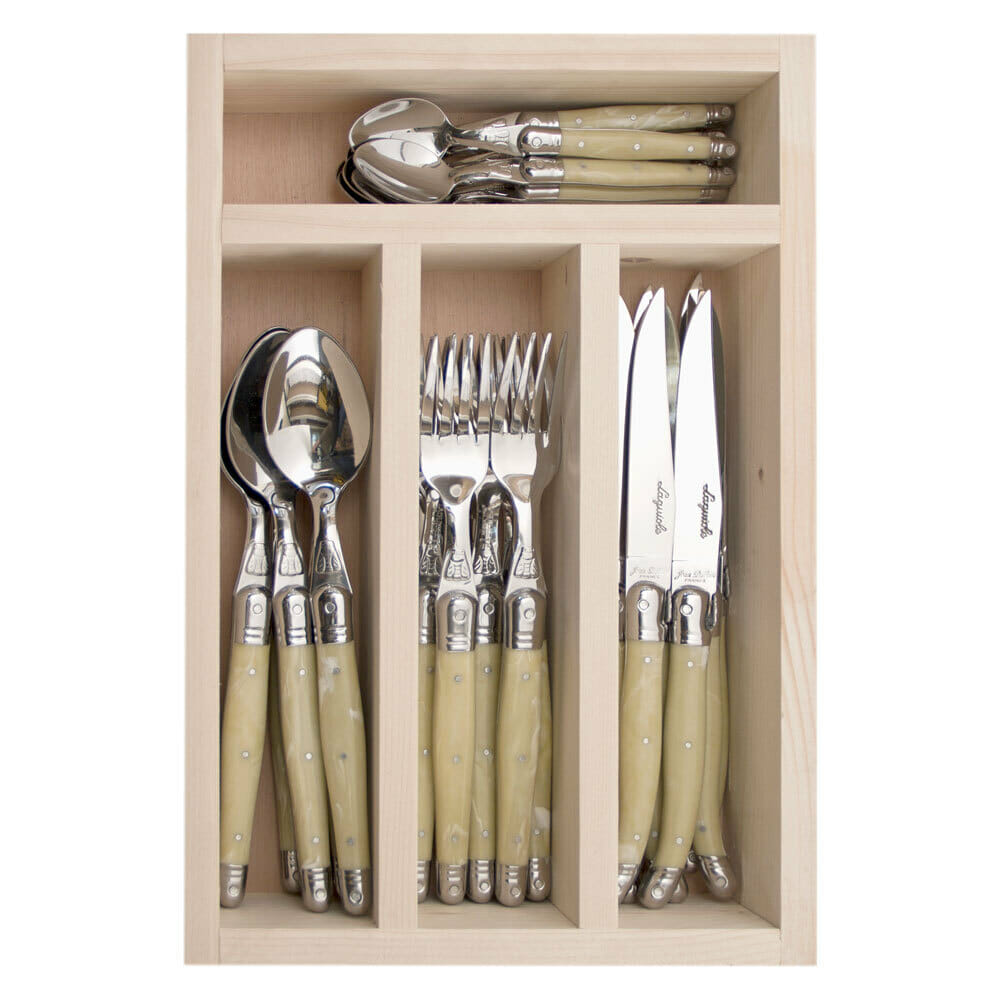 JEAN DUBOST 32 PCE CUTLERY SET  LIGHT HORN 1.5MM 13032 - SOLD OUT