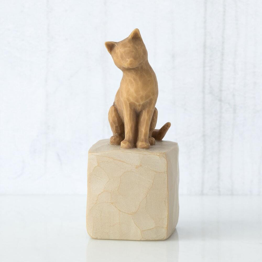 """WILLOW TREE - LOVE MY CAT ( light) FIGURINE 3""""H 27789 - SOLD OUT"""