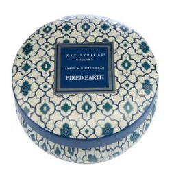 HOF - Wax Lyrical, Fired Earth Candle Tin in Assam and White Cedar