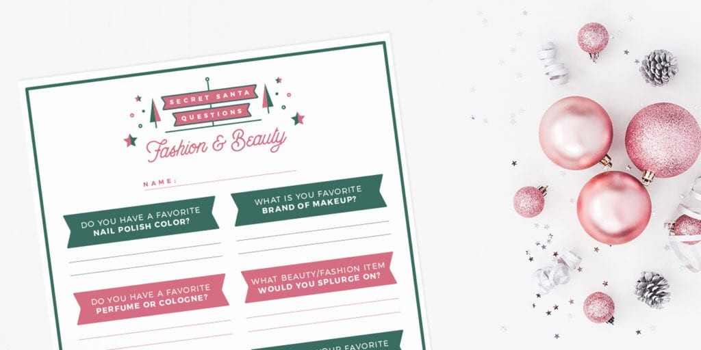 photo relating to Secret Santa Questionnaire Printable identified as Magic formula Santa Thoughts and Printable Absolutely free!!