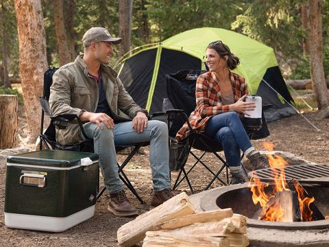 Coleman Portable Camping Chair with Can Coolers
