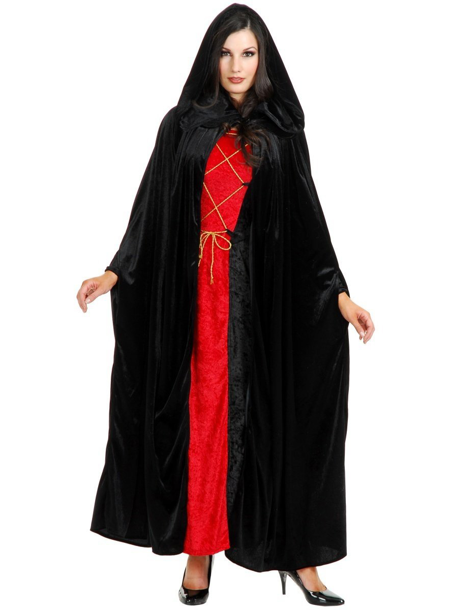 Gift Search Black Hooded Cloak
