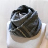 Knit Infinity Scarf, Circle Scarf, Loop Men Grey Scarf ...
