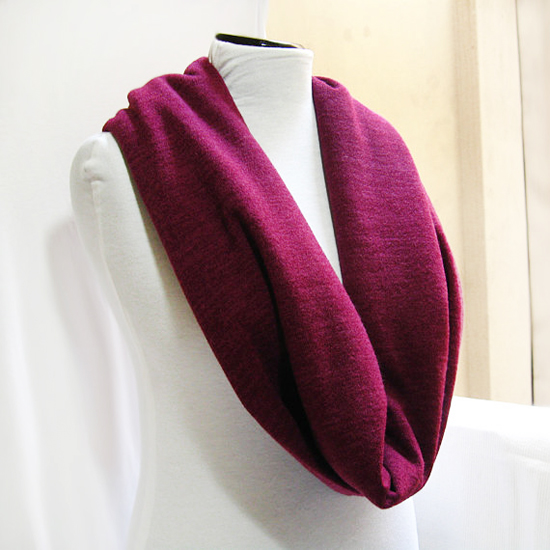 Infinity Scarf, Wool Jersey Circle Scarf for Men Women