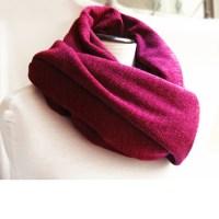 Infinity Scarf, Wool Jersey Circle Scarf for Men Women