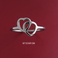 Double Heart Ring Promise Ring Valentines Gift  Gifts shop