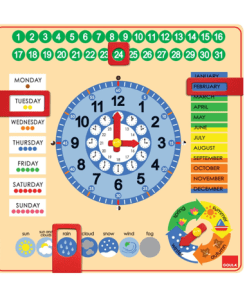 Goula Large Calendar and Clock